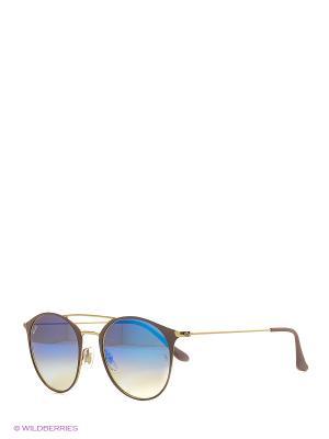Очки солнцезащитные Ray Ban. Цвет: коричневый, синий