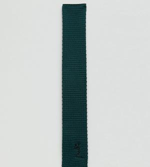 Religion Узкий трикотажный галстук зеленого цвета. Цвет: зеленый