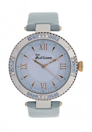 Часы Galliano. Цвет: голубой