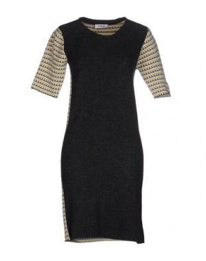 Короткое платье FARHI BY NICOLE. Цвет: стальной серый