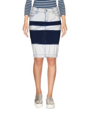 Джинсовая юбка ROŸ ROGER'S. Цвет: синий