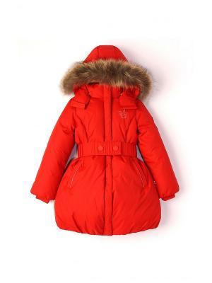 Пальто NELS. Цвет: красный