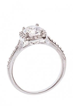 Кольцо Lebedi Crystals. Цвет: серебряный