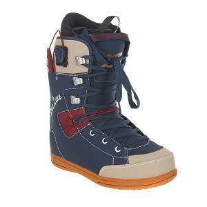 Ботинки для сноуборда  9six Pf Midnight Deeluxe. Цвет: синий,коричневый,бежевый