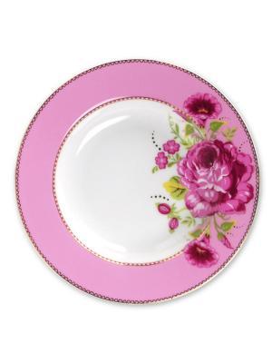 Набор из 2-х глубоких тарелок Floral Pink Pip studio. Цвет: розовый