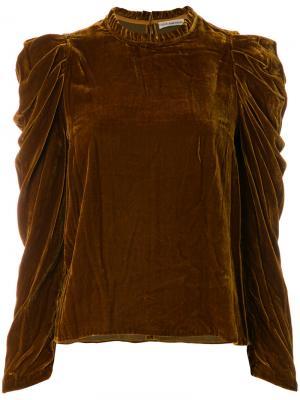 Блузка Gilles Ulla Johnson. Цвет: коричневый
