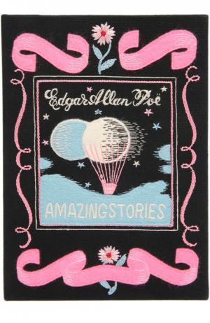 Клатч в виде книги с аппликацией Olympia Le-Tan. Цвет: черный