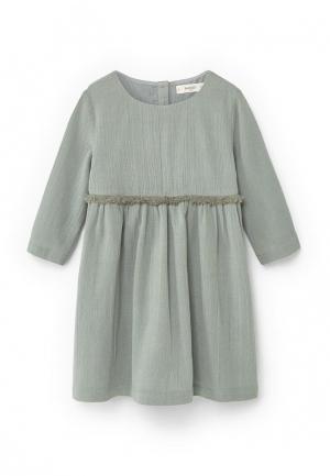 Платье Mango Kids. Цвет: мятный