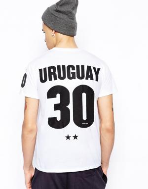 Футболка  Uruguay 30 Born Idol. Цвет: белый