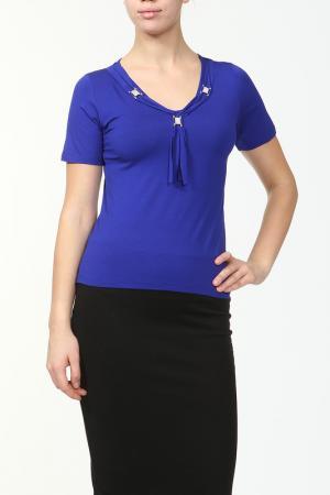 Блузка HEY. Цвет: синий