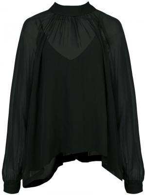 Sheer blouse Robert Rodriguez. Цвет: чёрный