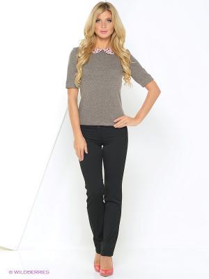 Блузки Арт-Деко. Цвет: коричневый, розовый