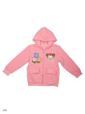 Куртка трикотажная с начёсом Kidly. Цвет: бледно-розовый