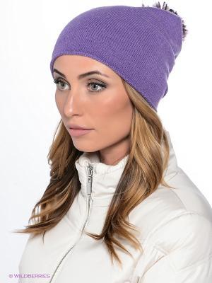 Шапка LAURA ESSE. Цвет: фиолетовый