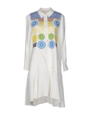 Короткое платье PETER PILOTTO. Цвет: белый