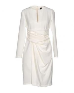 Платье до колена ONE. Цвет: белый