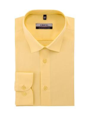 Рубашка GREG. Цвет: желтый