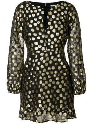 Платье с узором в горох For Love And Lemons. Цвет: чёрный