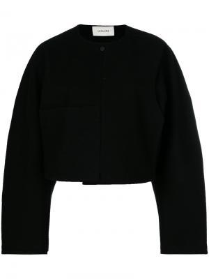 Укороченная структурированная куртка Lemaire. Цвет: чёрный
