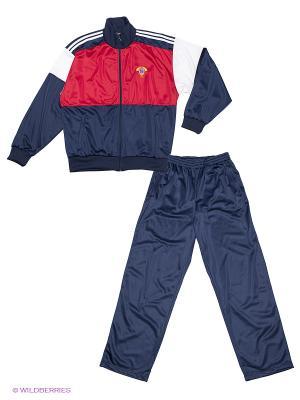 Спортивный костюм ADDIC. Цвет: синий, красный