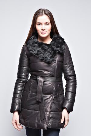 Кожаная куртка Giorgio. Цвет: черный