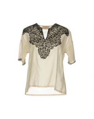Блузка KAOS JEANS. Цвет: бежевый