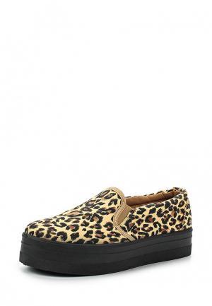 Слипоны Retro Shoes. Цвет: бежевый
