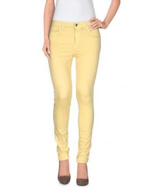 Повседневные брюки SIVIGLIA. Цвет: желтый