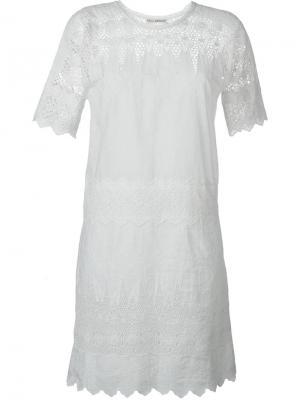 Платье Viola Ulla Johnson. Цвет: белый