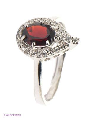Кольцо Migura. Цвет: серебристый, бордовый