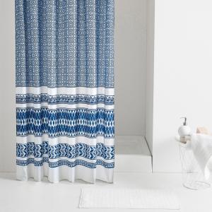 Штора для душа AZUL La Redoute Interieurs. Цвет: синий/ белый