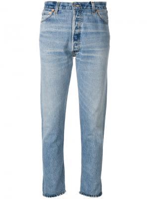 Укороченные брюки с завышенной талией Re/Done. Цвет: синий