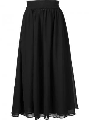 Плиссированная юбка Sam & Lavi. Цвет: чёрный