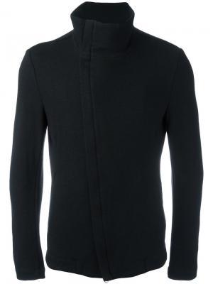 Куртка со смещенной молнией Forme Dexpression D'expression. Цвет: чёрный