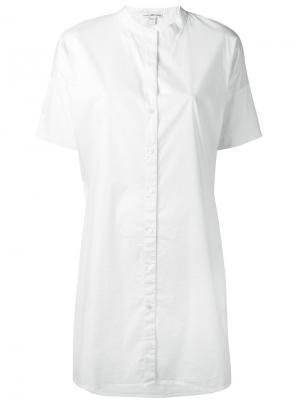 Платье-рубашка с короткими рукавами James Perse. Цвет: белый