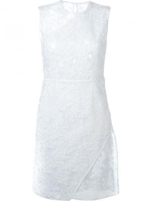 Кружевное платье Carven. Цвет: белый