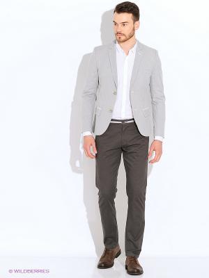 Пиджак Oodji. Цвет: светло-серый