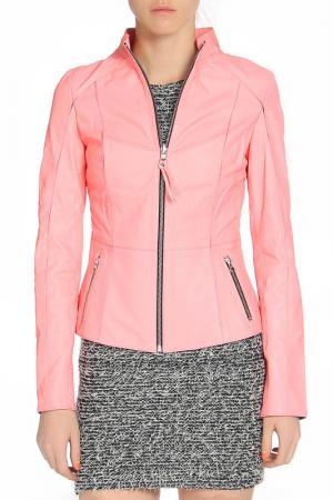 Куртка кожаная SUSSEX. Цвет: розовый