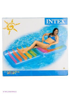 Матрас-кресло Фолдинг Intex. Цвет: синий