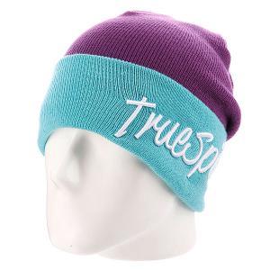 Шапка True Spin Stay 2 Tone Purple/Blue TrueSpin. Цвет: голубой,фиолетовый