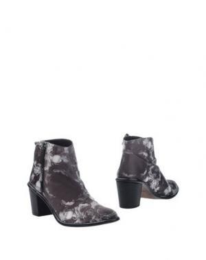 Полусапоги и высокие ботинки MIISTA. Цвет: свинцово-серый