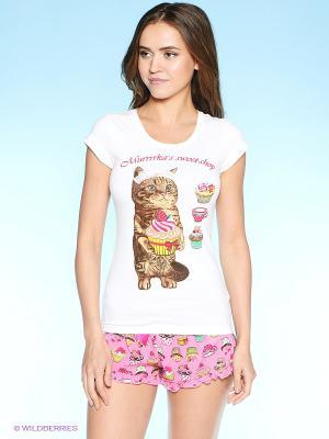 Пижама Infinity Lingerie. Цвет: розовый, белый