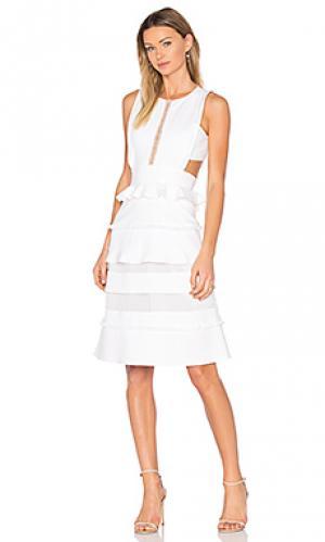 Платье миди alexi Marissa Webb. Цвет: белый