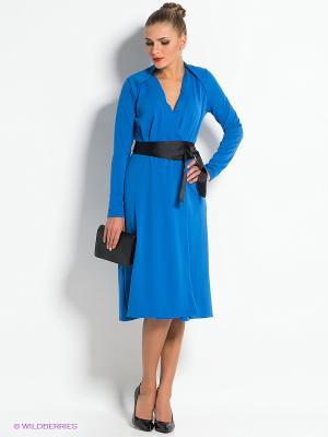 Платье TuttoBene. Цвет: синий