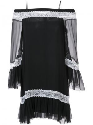 Off shoulder tunic dress Alice+Olivia. Цвет: чёрный