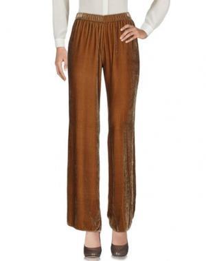 Повседневные брюки PINK MEMORIES. Цвет: коричневый