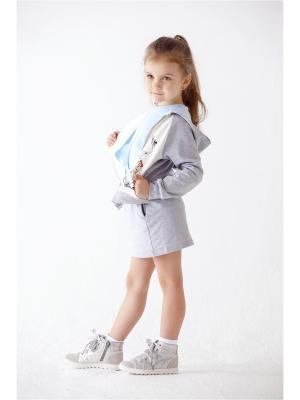 Куртка Мамуляндия. Цвет: серый, голубой, молочный