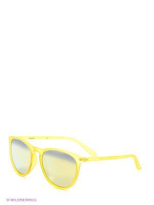 Солнцезащитные очки Polaroid. Цвет: желтый, серебристый