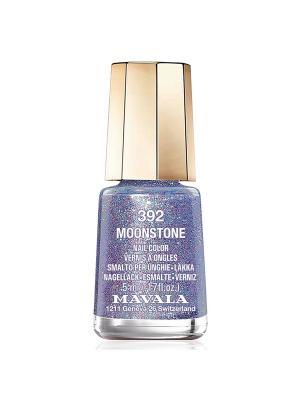 Лак для ногтей тон 392 Moonstone Mavala. Цвет: голубой, красный