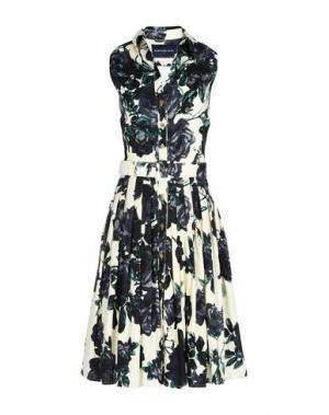 Платье до колена SAMANTHA SUNG. Цвет: темно-синий